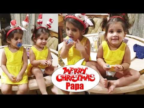 Bella And Vienna New Video Wishing Merry Christmas To Daddy Karanvir Bohra In Bigg Boss 12
