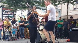 rock and roll mantap dari mat salleh from us feat sentuhan buskers