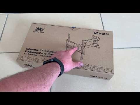 Mounting Dream TV Wandhalterung Schwenkbar Neigbar 66cm-140cm (26-55 Zoll) unboxing und Anleitung