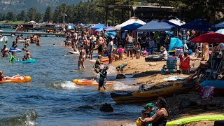 How Lake Tahoe Crowds Are Managing Safety, Or Not, As Coronavirus Climbs In California