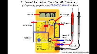 How To Use Multimeter : Tutorial 14
