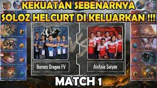 Helcurt Soloz Mengganas !! Borneo Dragon FV vs ASYN match 1 : MPL MY/SG S2