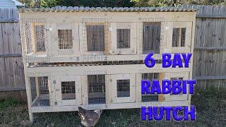 EASY 6 BAY RABBIT HUTCH