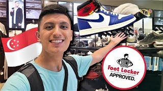 FIRST TIME SHOPPING at FOOT LOCKER in ASIA! (Jewel Changi Airport Mall VLOG)