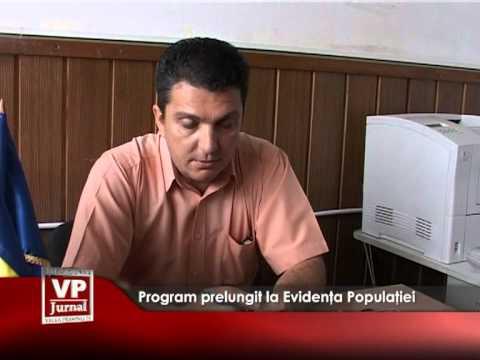 Program prelungit la Evidența Populației