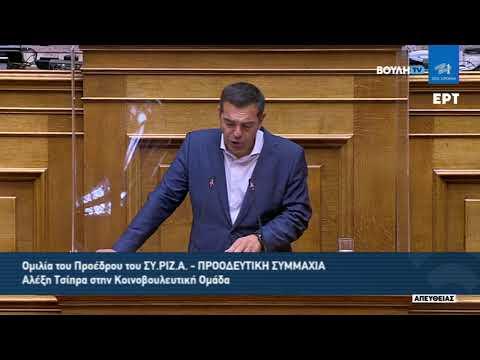Ομιλία του Προέδρου του ΣΥΡΙΖΑ – Προοδευτική Συμμαχία, Αλέξη Τσίπρα, στη συνεδρίαση της Κοινοβουλευτικής Ομάδας