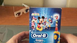 Oral B stages Mickey Mouse Electric Toothbrush Unboxing