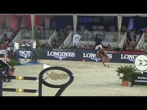Emerald and Harrie finishing 2nd place in the 1m60 GP of CSI5* LGCT Cannes