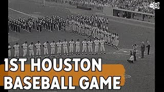 First Houston Baseball Game Ever Played - Colt .45s Vs Chicago Cubs
