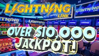 ⚡Lightning Link $10,000 JACKPOT!!! ⚡ Raja WIN$ Over 10k On High Stakes 💰 | The Big Jackpot