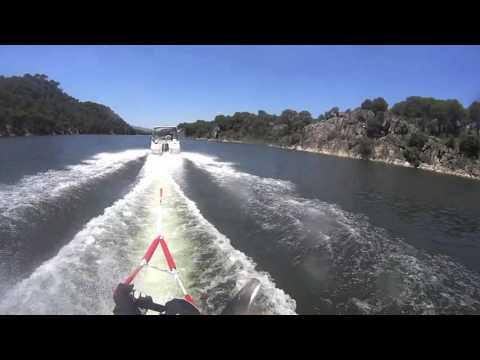 Mono esqui nautico waterski slalom open 50 km/h subjetiva casco