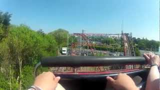 preview picture of video 'New Pleasureland Southport - Wildcat (1080p25, Fisheye, GoPro)'