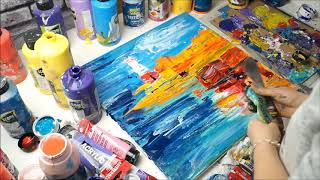 Acrylmalerei Impressionismus von Larissa Chupakhina