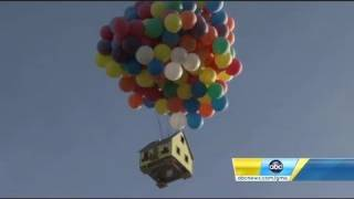 """Disney's """"Up"""" house created in real life and flown for National Geographic show"""