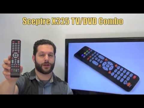 Sceptre X325 TV/DVD Combo Remote Control