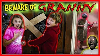 GRANNY GAME IN REAL LIFE! | We Are The Davises