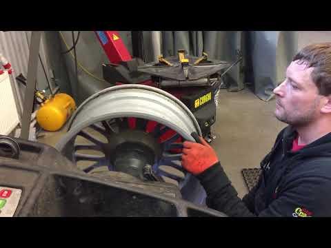 Рихтовка литого диска без станка