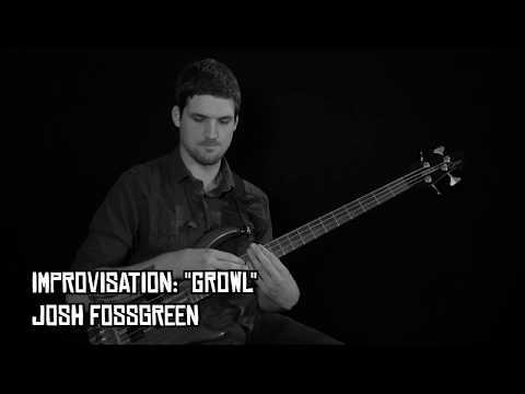 "Solo Bass Improv - ""Growl"" (Josh Fossgreen)"