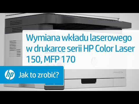 Wymiana wkładu laserowego w drukarce serii HP Color Laser 150, MFP 170