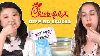 We Tried All Of The Dipping Sauces From Chick-fil-A | Food Network