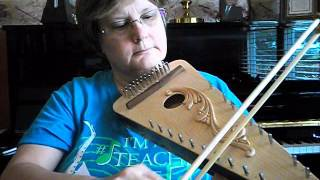 Miss Kay and bowed psaltery
