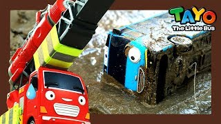Tayo got stuck in a cement hole! l Tayo Super Rescue Team l Tayo the little bus