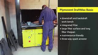 Plymovent Group – DraftMax workbench used for grinding at a welding school