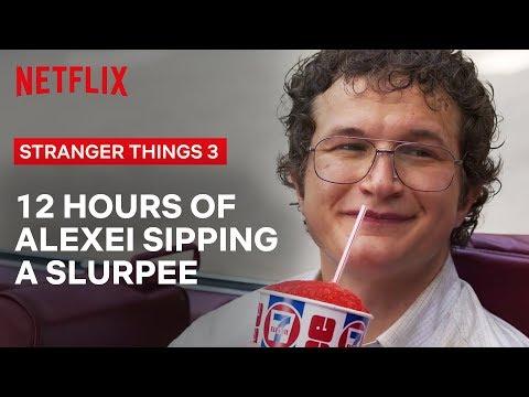 12 Hours of Dr. Alexei Slurping a Slurpee   Stranger Things   Netflix
