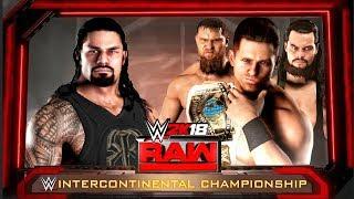 WWE 2K18 - Roman Reigns vs The Miz With Miztourage Match!