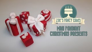 Fondant Christmas Presents Mini Cake Toppers How To Decorating Tutorial