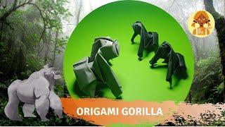gorilla origami พับกระดาษเป็นกอริลลา