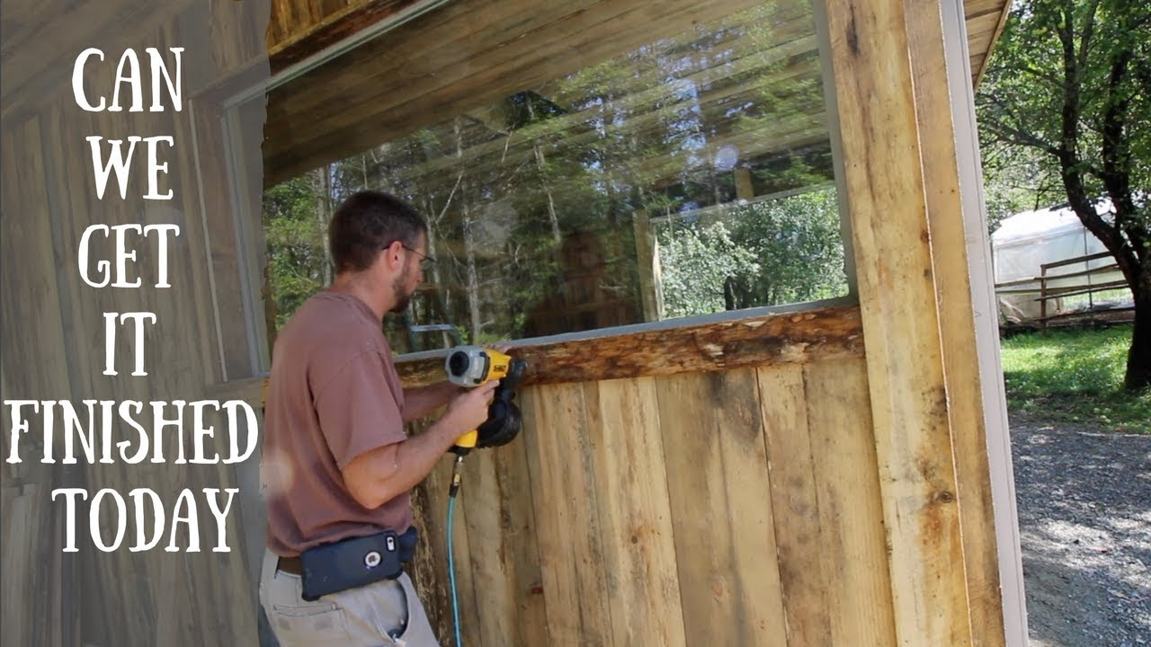 Puttting the trim on The Off Grid Outdoor Kitchen