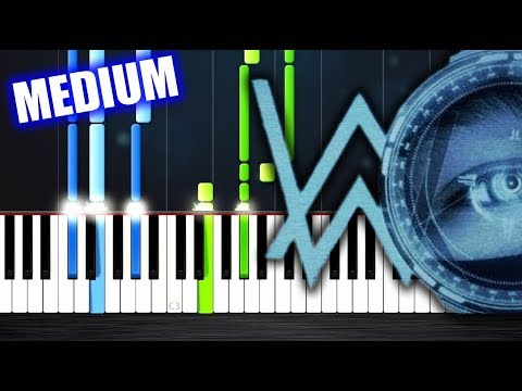 Alan Walker - The Spectre - Piano Tutorial (MEDIUM) by PlutaX