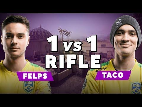 MIBR TACO vs felps - CS:GO RIFLE 1vs1