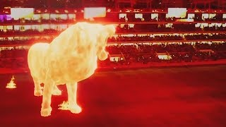 video: Watch: Spectacular giant lion hologram opens Estudiantes stadium in Argentina