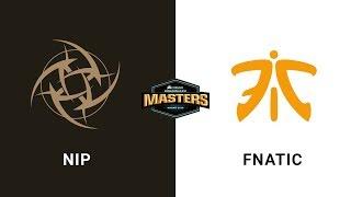 NIP vs Fnatic - Dust 2 - Quarter-Final - CORSAIR DreamHack Masters Malmö 2019