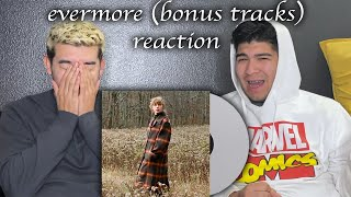 evermore BONUS TRACKS (right where you left me & it's time to go) REACTION