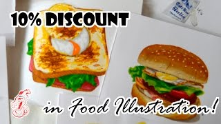 10% Discount In Food Illustrations Prproj