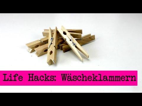 Life Hacks TOP 5: Wäscheklammern / Tipps und Tricks rund um Wäscheklammern - clothespin DIY