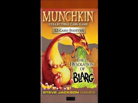 Bower's Game Corner: Munchkin Collectible Card Game: The Desolation of Blarg Unpacking