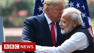 President Trump in India: Mispronunciations and cheers on day one - BBC