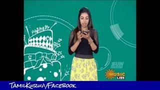 Sun music  Vj Niveditha Vaazthukkal,show & New Vj HD video 05 -07- 2016