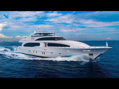 Broward 124' Broward Raised Pilothouse MY video