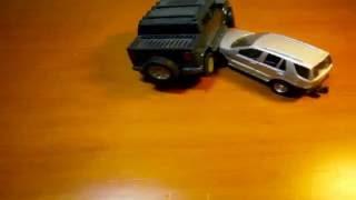 Hummer Crashes into Mercedes ML 320