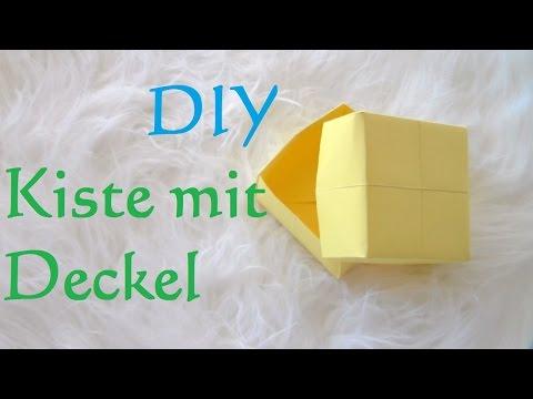 DIY Schachtel mit Deckel falten - Kisten Basteln mit Papier - Box Geschenkbox selber machen