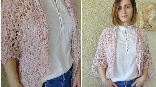 How To Crochet A Lacy Easy Shrug For Beginners! Perfect Spring Layer!