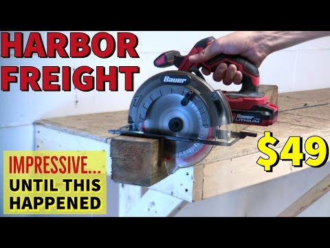 Harbor Freight Bauer Circular Saw w/ 1.5 & 3.0 Batteries Review – GREAT Saw Until…
