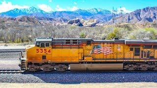 Massive Trains In Daggett, Barstow & Cajon Pass!