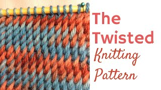 🌪 The Twisted Knitting Stitch Pattern - Slanted Knitting Stitch 😱