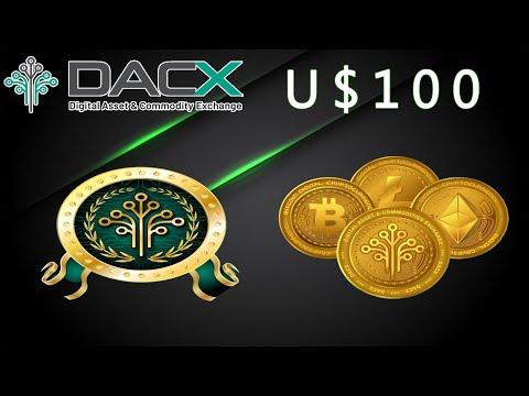 """Ganhe ~U$100 Dólares """"Grátis"""" ao Registrar-se na Exchange Dacx !!! Tá fácil hein...(5,000,000 pool)"""